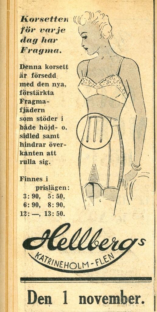 Annons och priskurant 1940